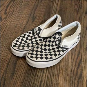 Kids Vans original black/white checkerboard